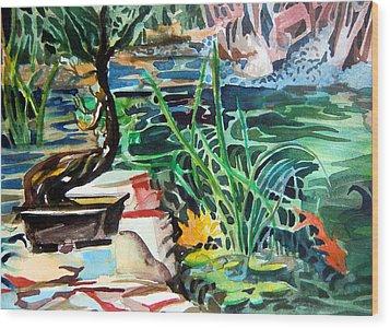 Bonsai Meditations Wood Print by Mindy Newman