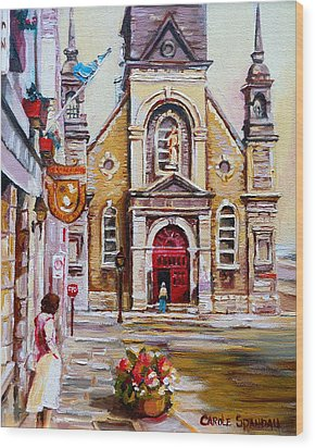 Bonsecours Church Wood Print by Carole Spandau