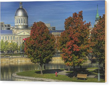 Bonsecours Market Wood Print