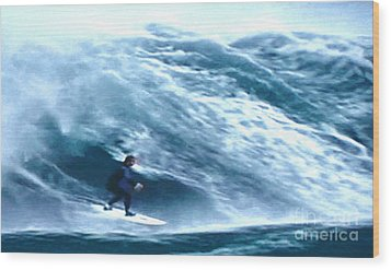 Bonzai Pipeline Wood Print