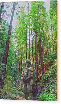 Boba Wood Print