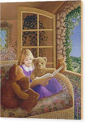 Book Club Wood Print by Susan Rinehart