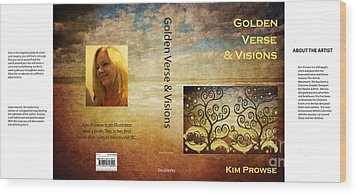 Wood Print featuring the digital art My Book Jacket by Kim Prowse
