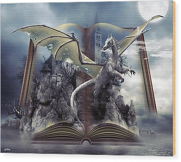 Book Of Fantasies Wood Print by G Berry