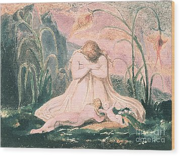 Book Of Thel Wood Print by William Blake