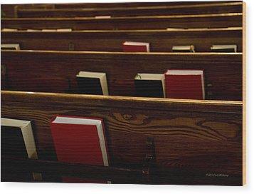 Book Of Worship I Wood Print by Carol Hathaway