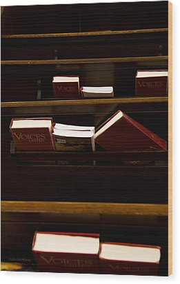 Book Of Worship II Wood Print by Carol Hathaway