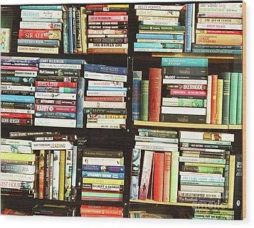 Book Shop Wood Print by Rebecca Harman