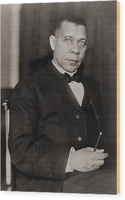 Booker T. Washington 1856-1915, Became Wood Print by Everett