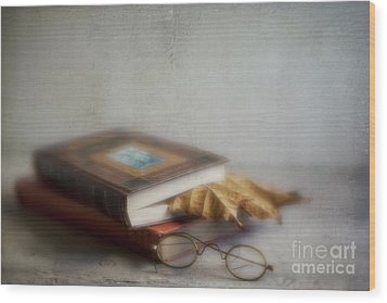 Wood Print featuring the photograph  Bookmark by Elena Nosyreva