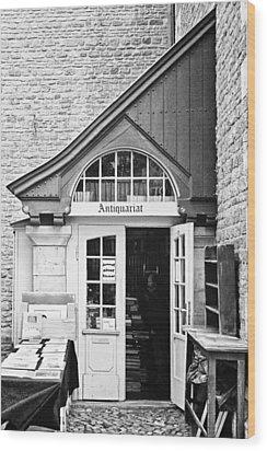 Bookstore Wood Print by Benjamin Matthijs