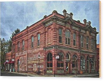 Boomtown Saloon Jacksonville Oregon Wood Print
