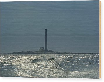 Boon Island Light Wood Print by Lois Lepisto