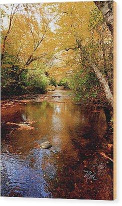 Wood Print featuring the photograph Boone Fork Stream by Meta Gatschenberger