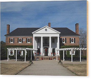 Boone Hall Plantation Charleston Sc Wood Print by Susanne Van Hulst