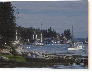 Boothbay Harbor In Maine Wood Print