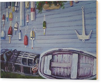 Boothbay Markers Wood Print