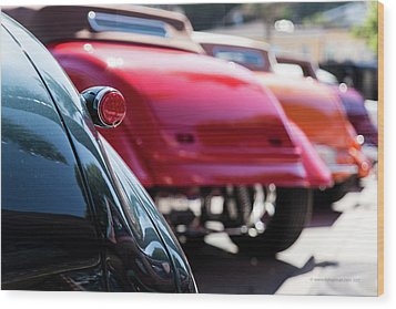 Wood Print featuring the photograph Boots Of Colorful Cars by Lora Lee Chapman