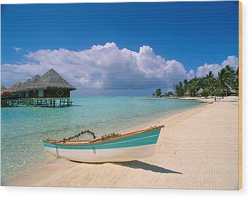Bora Bora, Hotel Moana Wood Print by Greg Vaughn - Printscapes