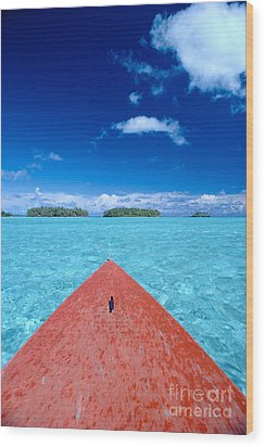 Bora Bora, View Wood Print by William Waterfall - Printscapes