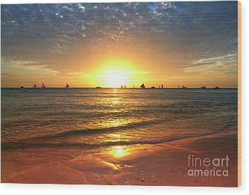 boracay,Philippians 4 Wood Print by Mark Ashkenazi