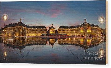 Bordeaux Reflections Wood Print