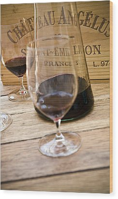 Bordeaux Wine Tasting Wood Print