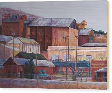 Borderland Mills Wood Print by Candy Mayer