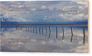 Borderline - Reflections Of Earth Wood Print by Steven Milner