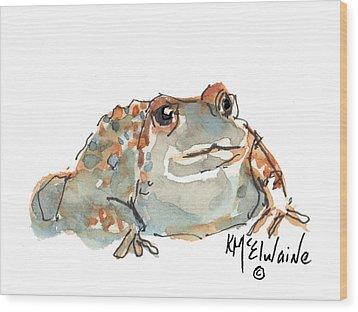 Boreal Chorus Frog Wood Print by Kathleen McElwaine