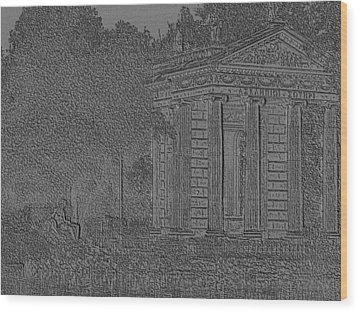 Wood Print featuring the photograph Borghese Scenery by Manuela Constantin