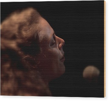 Wood Print featuring the photograph Born For The Blues by Karen Musick