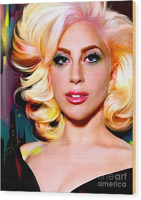 Born This Way, Lady Gaga Wood Print