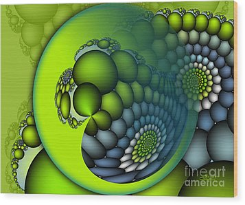 Born To Be Green Wood Print by Jutta Maria Pusl