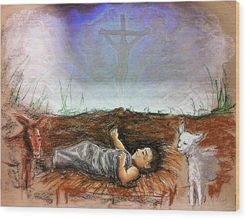 Wood Print featuring the painting Born To Die by Mike Ivey