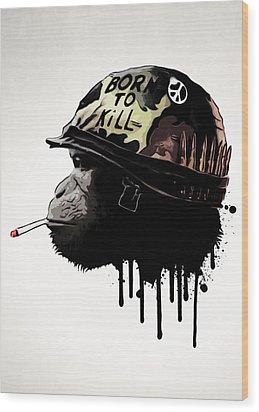 Born To Kill Wood Print