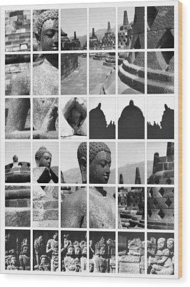 Borobudur In Frame Wood Print by Mario Bennet