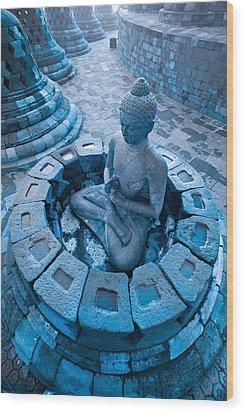 Borobudur Temple Wood Print by Luciano Mortula