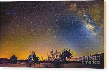 Borrego Springs Dragon Wood Print