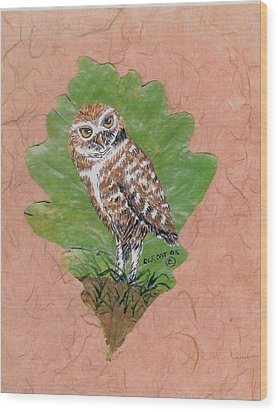 Borrowing Owl Wood Print