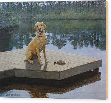 Boss Wood Print by Doug Strickland