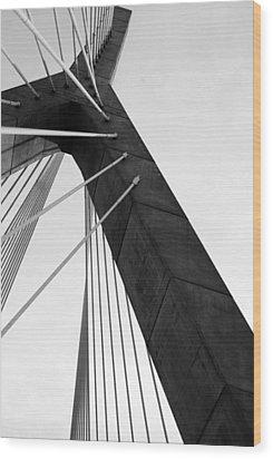 Boston Bridge  Wood Print by Maria Lopez
