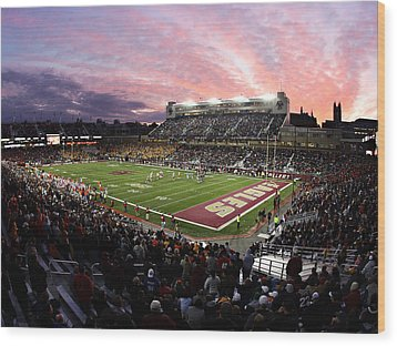 Boston College Alumni Stadium Wood Print by John Quackenbos
