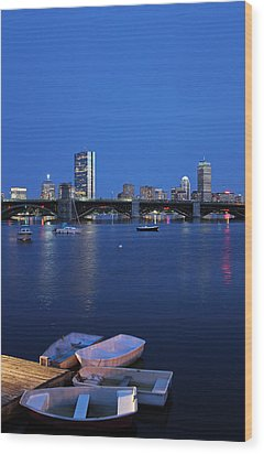 Boston Dinghies Wood Print by Juergen Roth