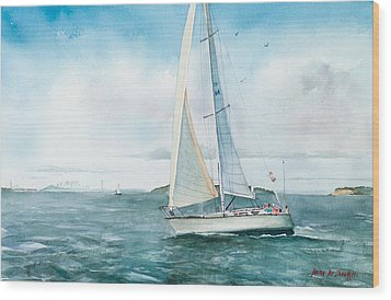 Boston Harbor Islands Wood Print