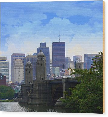 Boston  Wood Print by Julie Lueders