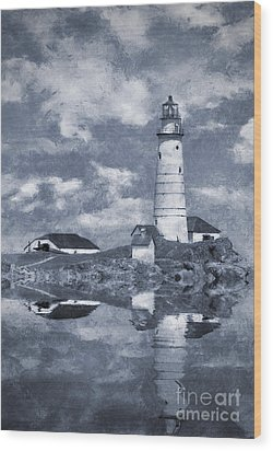 Wood Print featuring the photograph Boston Light  by Ian Mitchell
