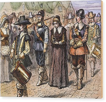 Boston: Mary Dyer, 1660 Wood Print by Granger