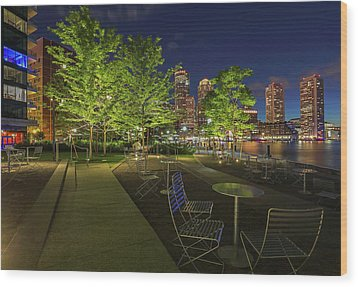 Wood Print featuring the photograph Boston Nightlife by Juergen Roth