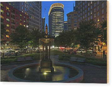 Wood Print featuring the photograph Boston Park Plaza Hotel by Juergen Roth